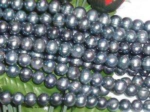 wholesale 10 strand 9-10 mm black freshwater pearl