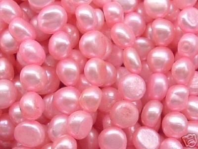 wholesale 10 strand 6-7 mm nuggets shape fw pearl-pink