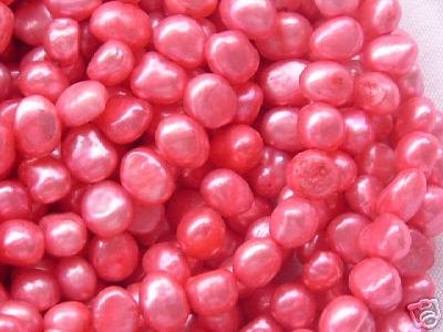 wholesale 10 strand 6-7 mm nuggets shape fw pearl-red