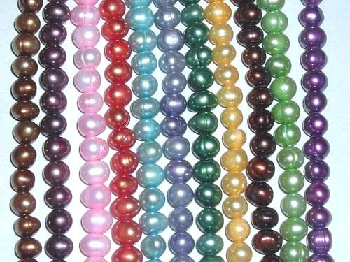 wholesale 55 strand 6-7 mm mix freshwater pearl