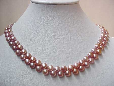 15.5'' PURPLE FW PEARL NECKLACE S925