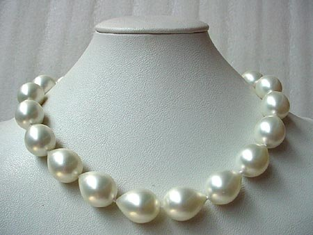 17.5'' 16x20MM SEASHELL PEARL NECKLACE