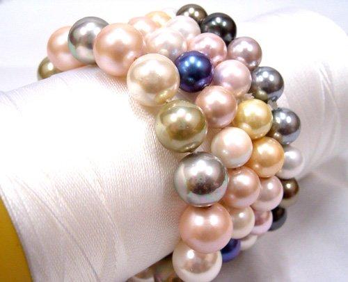 Wholesale 4piece multicolor 8.5mm seashell bracelet AAA