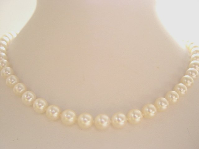 AAA RARE & HUGE 8 MM CHAMPAGNE AKOYA PEARL NECKLACE