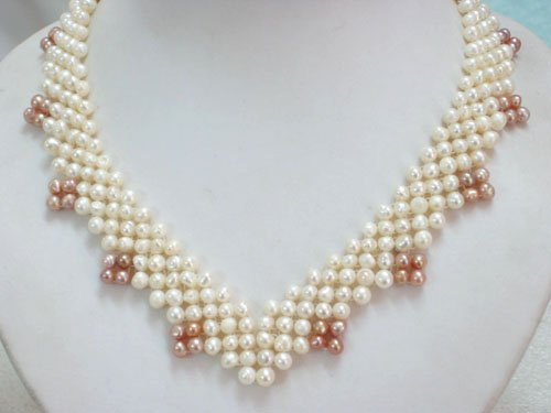 Heart Natural Freshwater Pearl Necklace