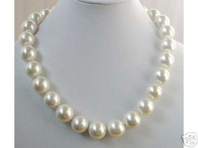 BIG! 16MM WHITE SEASHELL PEARL NECKLACE