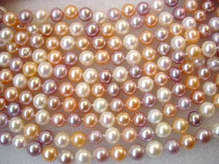 WHOLESALE! 10 strands 7-8MM FW PEARL NECKLACE