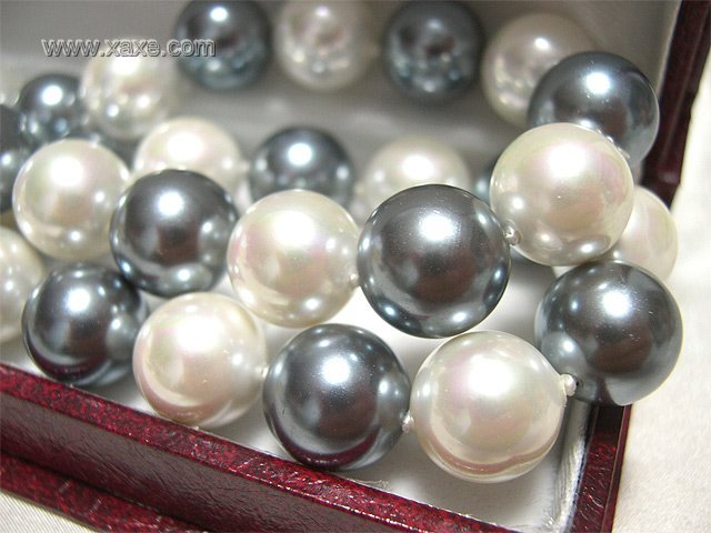 "32"""" 12mm south sea shell pearl necklace"