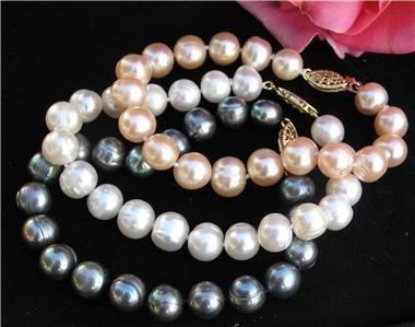 Wholesale 3 Pieces 10mm Freshwater Pearl Bracelet