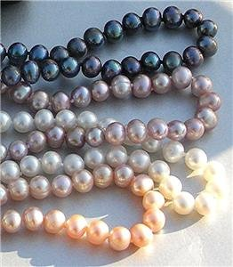 Wholesale 4 Pieces 7mm Freshwater Pearl Necklace