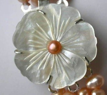 1 pc flower shell clasp