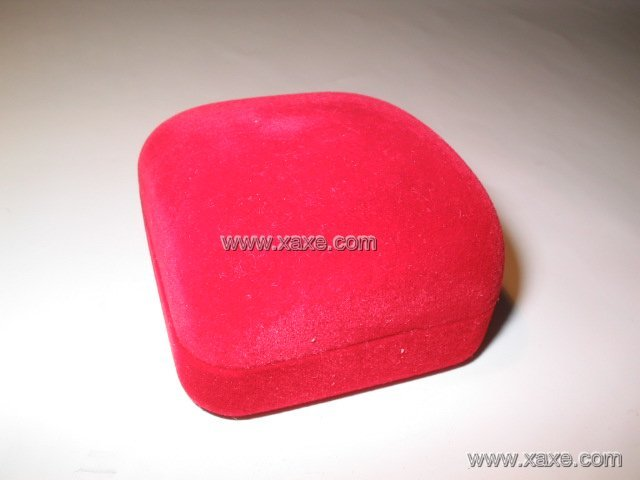 small red velvet jewelry box