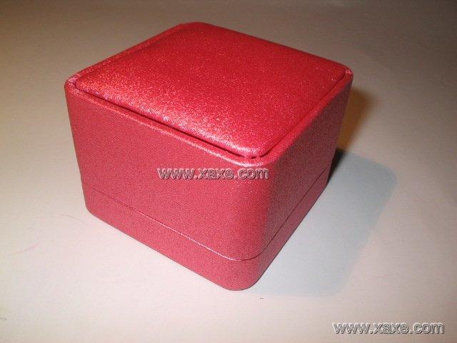pink silk fabric jewelry box