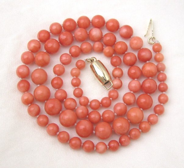 18'' 4mm-7mm Pink Coral Necklace