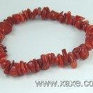 lovely red coral chip bracelet