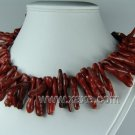 Lovely red coral branch necklace