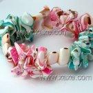 Lovely pink & green shell bracelet