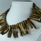 Lovely golden sponge coral branch necklace