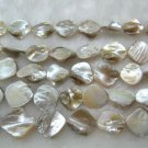 wholesale 10 strands 15mm Shell Beads loose string - white