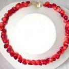 11mm flower handwork carve red pink coral Necklace