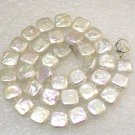 11mm white coin freshwater pearl necklace