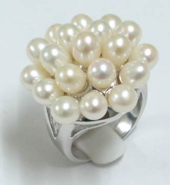 Multi-pcs white pearl ring #7.5