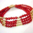 7.5'' 4-5mm coral bead bracelet