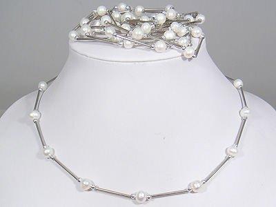 wholesale 5 pcs white pearl necklace