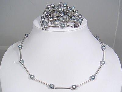 wholesale 5 pcs black pearl necklace