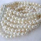 8 strands white pearl bracelet