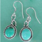 Turquoise earrings oral shape silver
