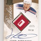 1/1 2008-09 THE CUP LAURI KORPIKOSKI RC RAINBOW PATCH AUTO #60/60 1/1
