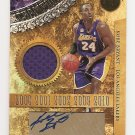 1/1 2011 GOLD STANDARD KOBE BRYANT 5 RINGS #24/24 JERSEY AUTO 1/1 EXQUISITE!