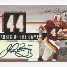 1/1 2006 LEAF CERTIFIED JOHN RIGGINS FABRIC OF THE GAME JERSEY #44/44 AUTO HOF!!