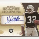 2005 EXQUISITE MARCUS ALLEN SIGNATURE CHAMPIONS AUTO #2/5! ULTRA RARE FIRST YEAR