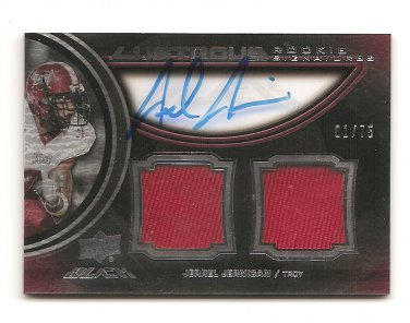 1/1 2011 EXQUISITE JERREL JERNIGAN UD BLACK LUSTRIOUS ROOKIE DUEL AUTO #1/75! NY 1/1