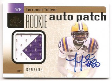 1/1 2011 SP AUTHENTIC TERRENCE TOLIVER RC AUTO PATCH 699/699 1/1 LAST ONE MADE!!