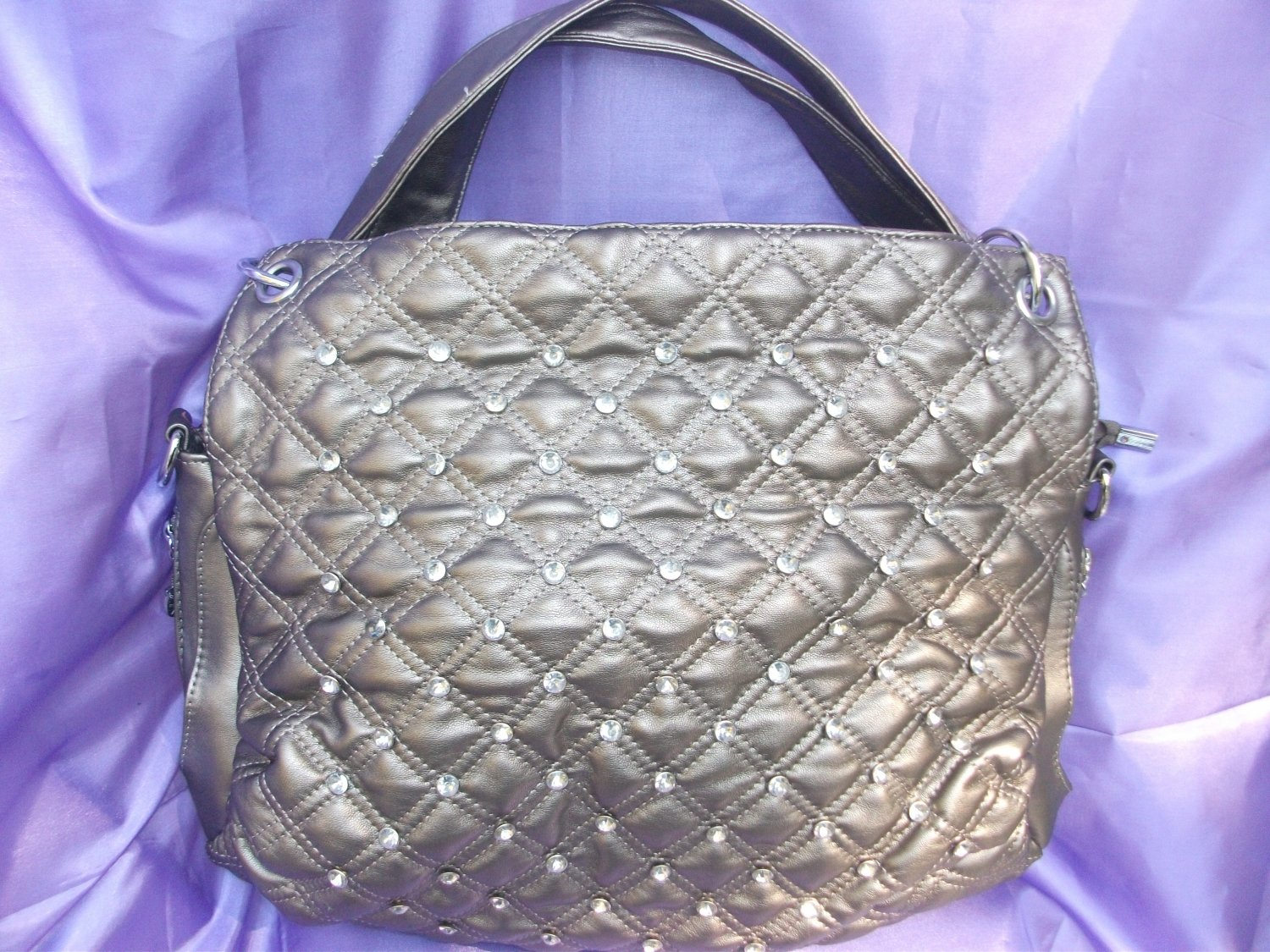 Studded Pewter Handbag