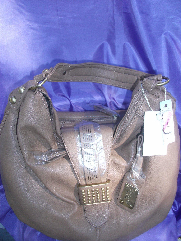Taupe Hobo Handbag