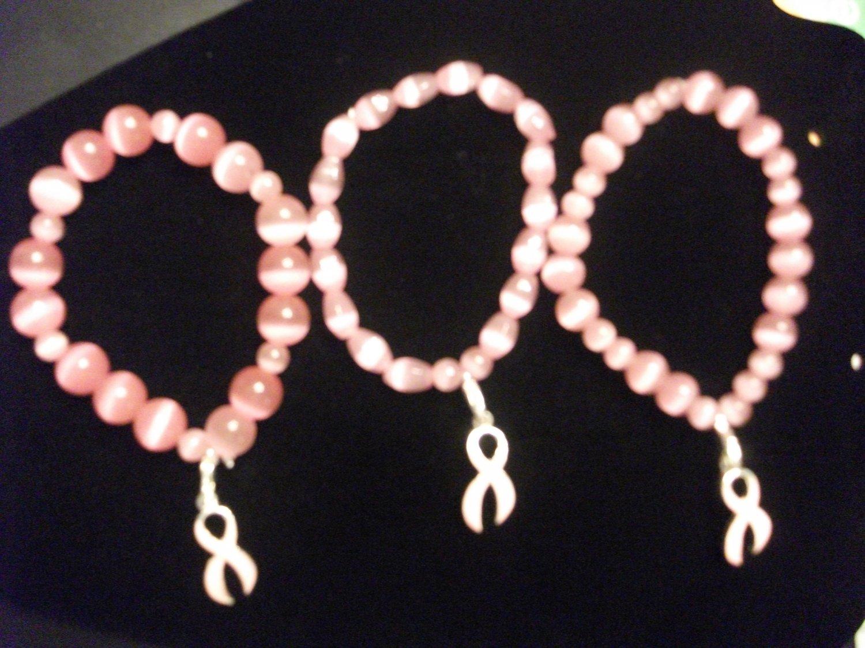 Pink Brest cancer awareness bracelett