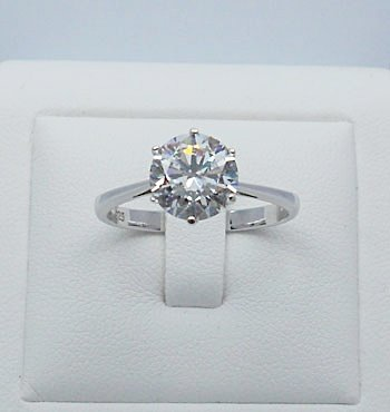 AAA 5ct Cubic Zironia ring sterling silver