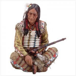 INDIAN CHIEF SITTING/PIPE