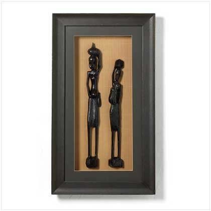 African Figurines Shadowbox