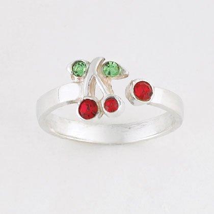 Sterling Silver Cherries Toe Ring