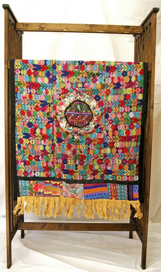 Guatemalan Embroidered Mixed Huipile Tapestry