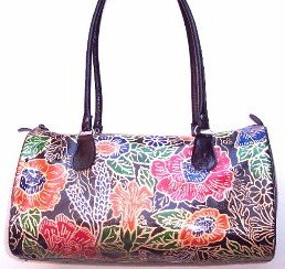 Hand Painted Leather Handbag