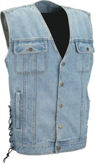 Denim Classic Motorcycle Vest