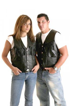 Leather Fringed Vest