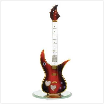 Glass Guitar on Base