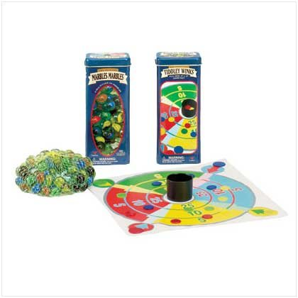 Marbles & Tiddly Winks in Tin